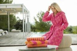 Accappatoio, asciugamano e biancheria donna